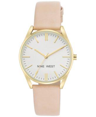oakley stop making watches kfne  Nine West Women's Pastel Pink Faux Leather Strap Watch 36mm NW-1994WTPK