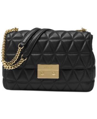 michael kors sloan extra large chain shoulder bag handbags rh macys com