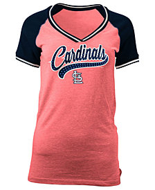 5th & Ocean Women's St. Louis Cardinals Rhinestone Night T-Shirt