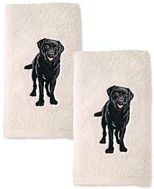 Dog 2-Pc. Cotton Hand Towel Set