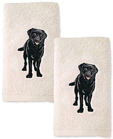 Avanti Dog 2-Pc. Cotton Hand Towel Set