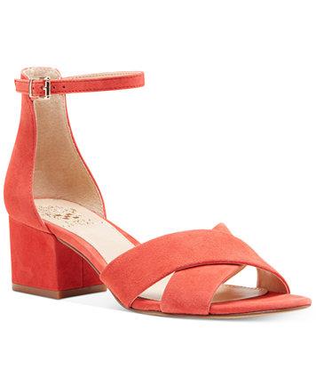 Vince Camuto Florrie Two Piece Block Heel Sandals Sandals Shoes Macy's