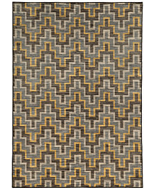 "CLOSEOUT! JHB Design  Brookside Inca Brown 9'10"" x 12'10"" Area Rug"