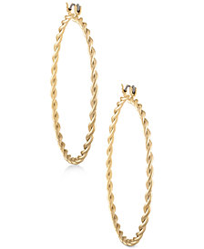 RACHEL Rachel Roy Gold-Tone Twisted Hoop Earrings