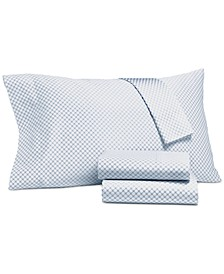 Printed Standard Pillowcase Pair, 500 Thread Count, Created for Macy's
