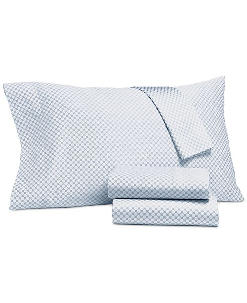 Charter Club CLOSEOUT! Printed Full 4-pc Sheet Set, 500 Thread Count, Created for Macy's