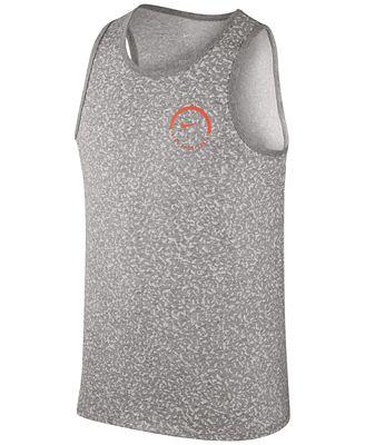 Nike Mens Tank Top - Nike Air Statement Black/Black/Cool Grey/White V14j7706