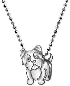 Yorkie Pendant Necklace in Sterling Silver
