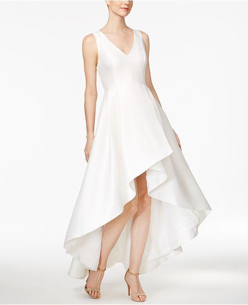 f4b6577acaa0 Calvin Klein High-Low A-Line Gown & Reviews - Dresses - Women - Macy's