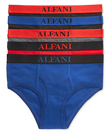 Alfani Men's 5 Pack Cotton Briefs, Created for Macy's