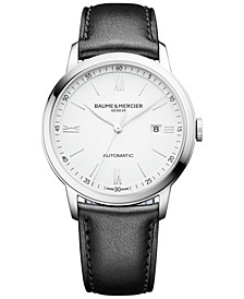 Men's Swiss Automatic Classima Black Leather Strap Watch 42mm M0A10332