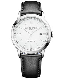 Baume & Mercier Men's Swiss Automatic Classima Black Leather Strap Watch 42mm M0A10332