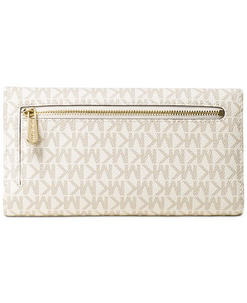 d7de9f1ba8bd Michael Kors Signature Jet Set Item Checkbook Wallet & Reviews ...