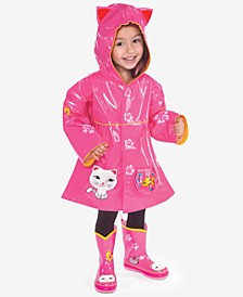 Lucky Cat Raincoat, Toddler Girls
