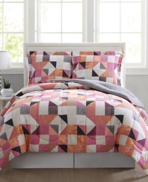 Closeout Casey Reversible 3Pc FullQueen Comforter Mini Set Bedding