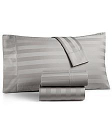 "1.5"" Stripe Extra Deep Pocket King 4-Pc Sheet Set, 550 Thread Count 100% Supima Cotton, Created for Macy's"