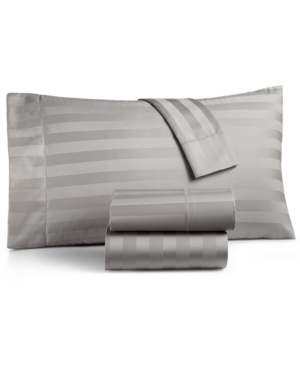 Charter Club Damask Stripe Twin 3Pc Sheet Set 550 Thread Count 100 Supima Cotton Created for Macys Bedding