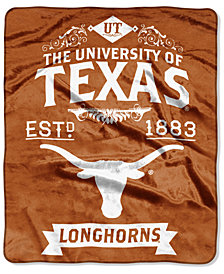 Northwest Company Texas Longhorns Raschel Rebel Throw Blanket