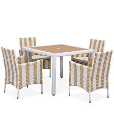 Elsen Outdoor 5-Pc. Dining Set (Dining Table & 4 Chairs), Quick Ship