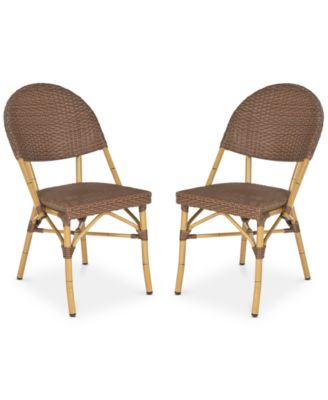 Image 1 Of Louisa Set Of 2 Indoor/Outdoor Wicker Side Chairs, Quick Ship