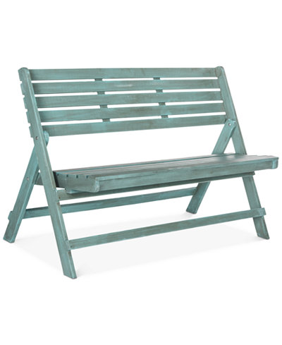 Wilson Outdoor Folding Bench, Quick Ship