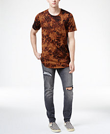 Jaywalker Men's Tie-Dyed Curved-Hem T-Shirt and Stretch Ripped Jeans, Created for Macys