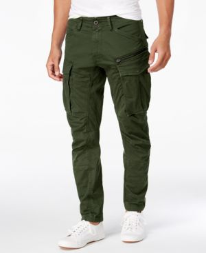 G-STAR RAW Rovic New Tapered Fit Cargo Pants in Dark Bronze Green