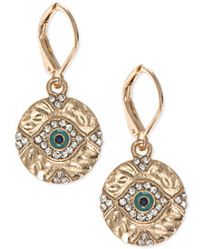 lonna & lilly Silver-Tone Crystal Evil Eye Drop Earrings