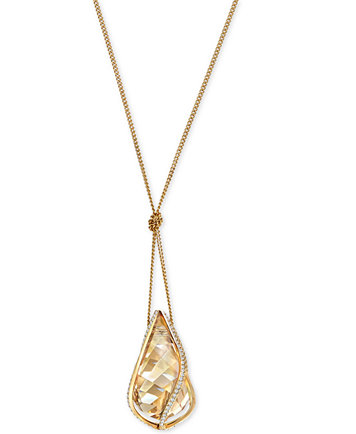 Swarovski gold tone knotted crystal energy pendant necklace image 1 of swarovski gold tone knotted crystal energy pendant necklace mozeypictures Gallery
