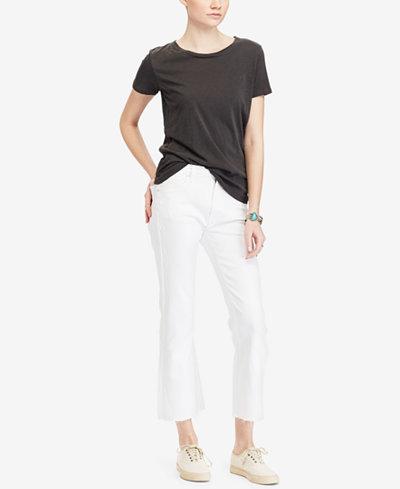 Denim & Supply Ralph Lauren Crop High-Rise Flare Jeans - Jeans ...