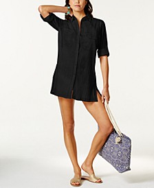 Semi-Sheer Tunic Cover Up