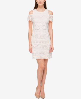Jessica simpson lace trimmed peasant dress