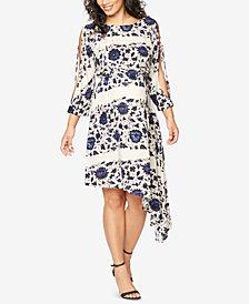 Ella Moss Maternity Printed Handkerchief-Hem Dress