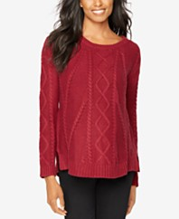 Red Cable-Knit Sweater & Fisherman Sweaters - Macy's