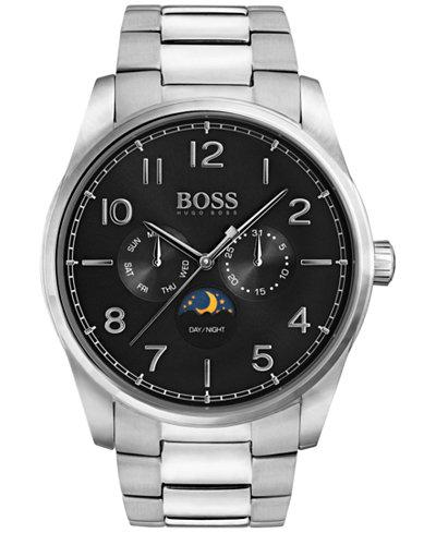 BOSS Hugo Boss Men's Heritage Stainless Steel Bracelet Watch 43mm 1513470