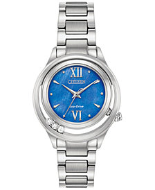 Citizen Eco-Drive Women's L - Sunrise Diamond Accent Stainless Steel Bracelet Watch 33mm EM0510-53N, Created for Macy's