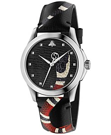 Unisex Swiss Le Marché Des Merveilles Gray Leather Strap Watch 38mm