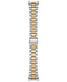 Michael Kors Access Women's Bradshaw Two-Tone Stainless Steel Bracelet Smart Watch Strap MKT9024