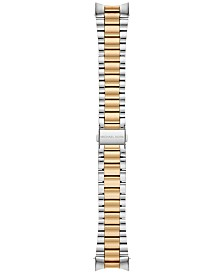 Michael Kors Access Women's Bradshaw Two-Tone Stainless Steel Bracelet Smart Watch Strap MKT9024