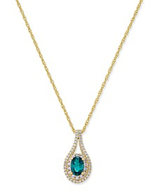 Certified Ruby (1/2 ct. t.w.) & Diamond (1/4 ct. t.w.) Pendant Necklace in 14k Gold (Also Emerald & Sapphire )