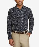 Nautica Men's Floral-Print Cotton Shirt