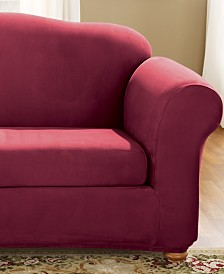 Stretch Faux Suede 2-Piece Slipcover Collection