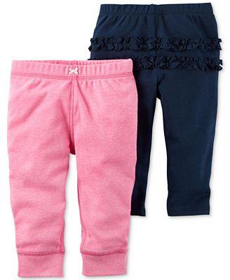 Carter's 2-Pc. Ruffled Leggings & Jogger Pants Set, Baby Girls