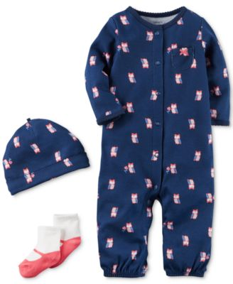 First Impressions Footed Snowsuit with Faux Fur Trim, Baby Girls ...