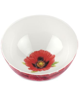"Botanic Garden Blooms Poppy 11"" Serving Bowl"