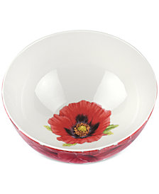 "Portmeirion Botanic Garden Blooms Poppy 11"" Serving Bowl"