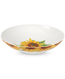 "Portmeirion Botanic Garden Blooms 13"" Low Serving Bowl"