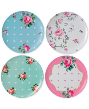 Royal Albert Vintage Mix Picnic Collection 4-Pc. Melamine Dinner Plate Set 4613021