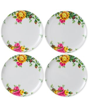 Royal Albert Old Country Roses Picnic Collection 4-Pc. Melamine Dinner Plate Set 4613031