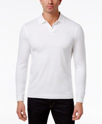 5d446e21393 Tasso Elba Men's Supima® Blend Long-Sleeve Polo, Created for Macy's &  Reviews - Polos - Men - Macy's